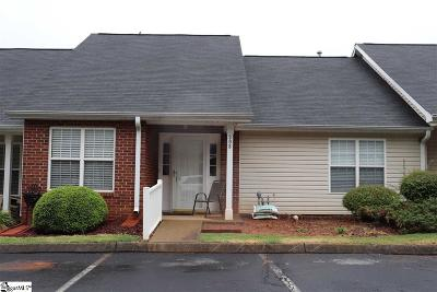 Greenville County Condo/Townhouse For Sale: 308 Woodruff Park