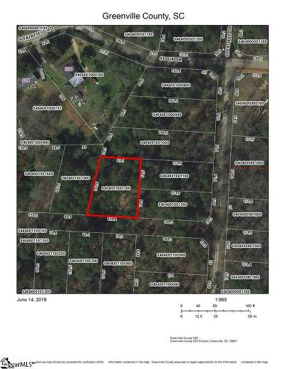 Greenville County Residential Lots & Land For Sale: S Fairfield