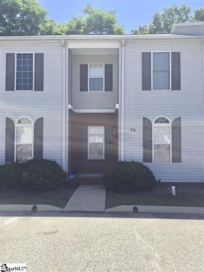Greenville County Condo/Townhouse For Sale: 72 Huntress