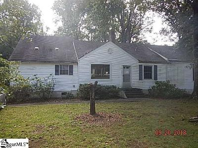 Greenville County Single Family Home Contingency Contract: 3100 Edwards