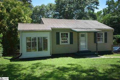 Greenville SC Single Family Home For Sale: $100,000