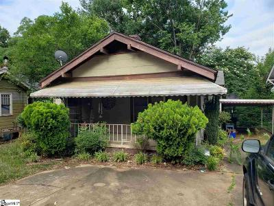 Greenville SC Single Family Home For Sale: $64,900