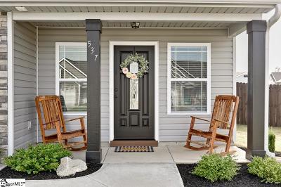 Single Family Home For Sale: 537 Thomas Edwards