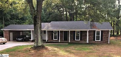 Pelzer Single Family Home For Sale: 120 Cooley Bridge