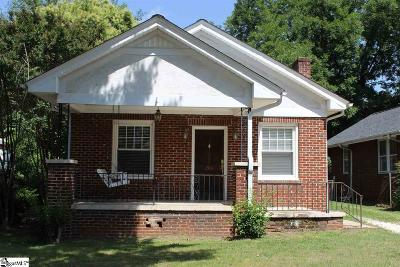 Greenville SC Single Family Home For Sale: $209,000