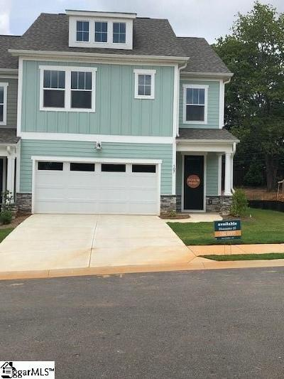 Greenville County Condo/Townhouse For Sale: 107 Coogan #Homesite