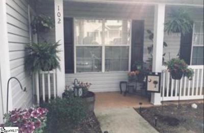 Greenville County Condo/Townhouse Contingency Contract: 102 Hammett Grove