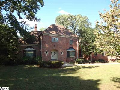 Greenville Single Family Home For Sale: 105 W Round Hill