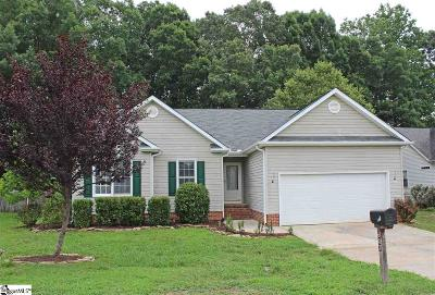 Simpsonville Single Family Home Contingency Contract: 607 Lake Lennox