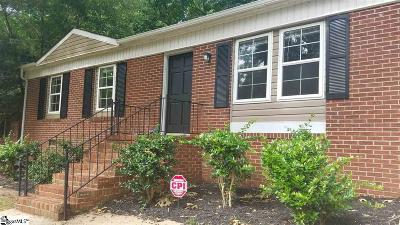 Greenville Single Family Home For Sale: 121 Cashmere