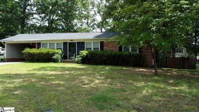 Easley Single Family Home For Sale: 209 Sylvia