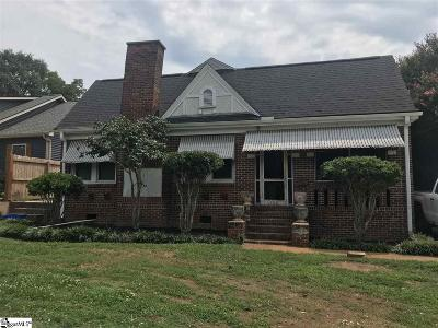 Greenville SC Single Family Home For Sale: $179,900