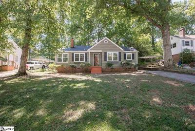 Greenville SC Single Family Home For Sale: $222,000
