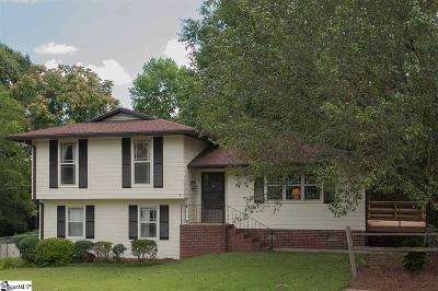Taylors Single Family Home For Sale: 75 Stallings