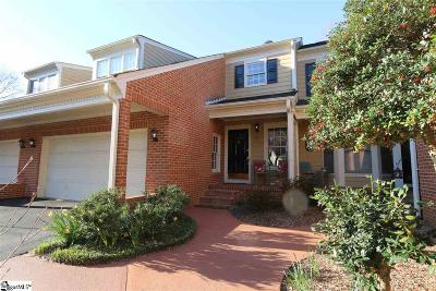 Greenville SC Condo/Townhouse For Sale: $284,900