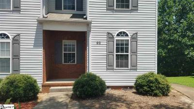 Greenville County Condo/Townhouse Contingency Contract: 92 Huntress