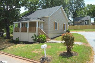 Easley Single Family Home For Sale: 307 Hill