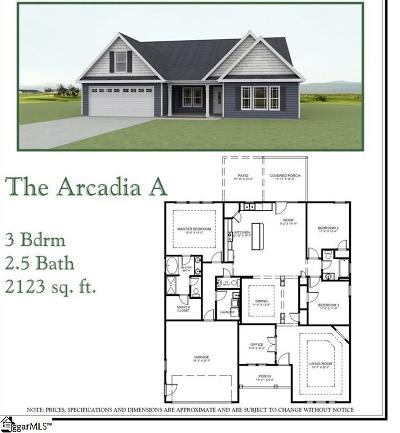 Travelers Rest Single Family Home For Sale: 49 Upcountry #Lot 13