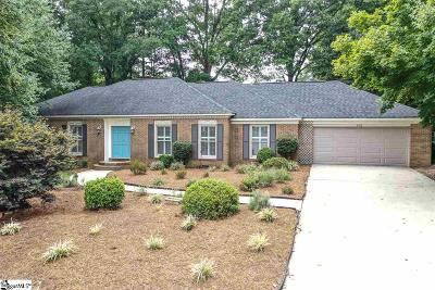 Simpsonville Single Family Home For Sale: 202 Poinsettia