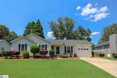 Simpsonville Single Family Home Contingency Contract: 205 Fairdale