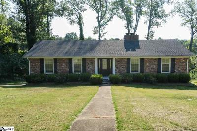 Spartanburg Single Family Home For Sale: 338 Heathwood