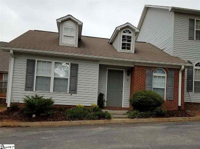 Greenville County Condo/Townhouse For Sale: 9 Huntress