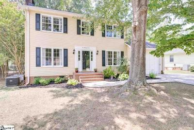 Simpsonville Single Family Home For Sale: 206 Manassas