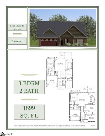Travelers Rest Single Family Home For Sale: 19 Upcountry #Lot 8