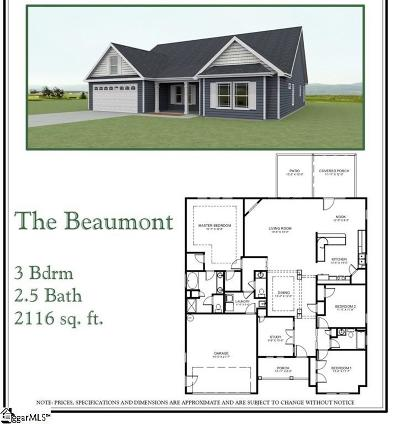 Travelers Rest Single Family Home For Sale: 65 Upcountry #Lot 12