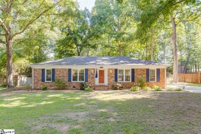 Greenville Single Family Home Contingency Contract: 110 Cold Springs