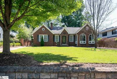 Greenville Single Family Home For Sale: 414 Townes
