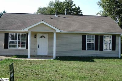 Fountain Inn Single Family Home Contingency Contract: 202 Dexter Bend