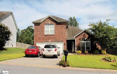 Easley Single Family Home For Sale: 316 Spirit Mountain