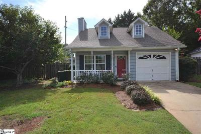 Travelers Rest Single Family Home Contingency Contract: 6 Pecan Grove