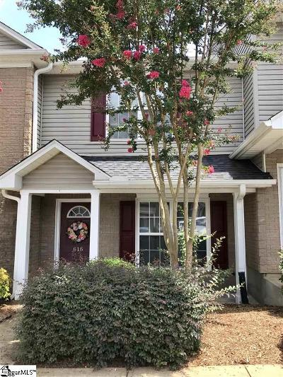 Greenville Condo/Townhouse For Sale: 616 Graythorn