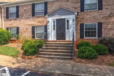 Greenville Condo/Townhouse For Sale: 925 Cleveland #Unit 72