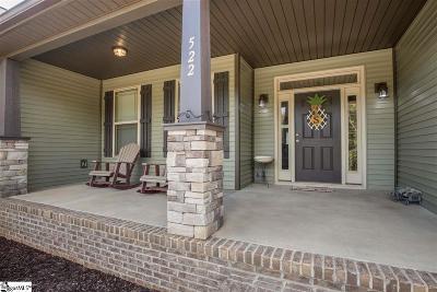 Greer Single Family Home For Sale: 522 Hammett Bridge
