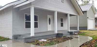 Spartanburg Single Family Home For Sale: 1024 Howard