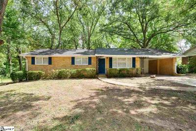 Greenville SC Single Family Home For Sale: $185,500
