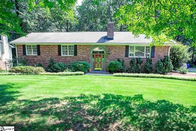 Greenville SC Single Family Home For Sale: $595,000