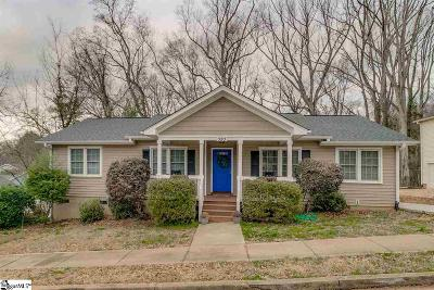 Greenville SC Single Family Home For Sale: $314,000
