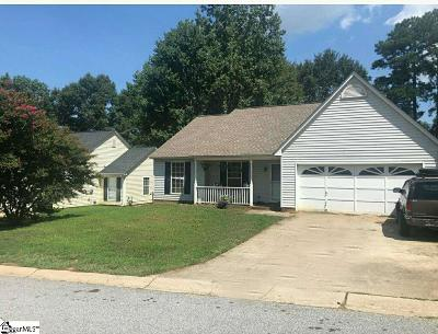 Simpsonville Single Family Home For Sale: 102 W Fall River