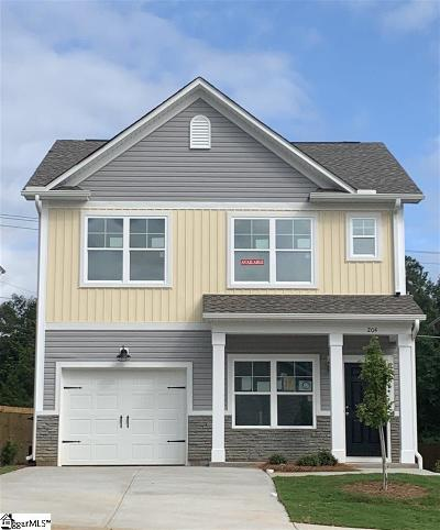 Simpsonville Single Family Home For Sale: 204 Bromley Fold #lot 24