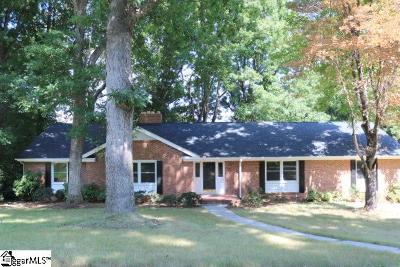 Greenville Single Family Home For Sale: 13 Indian Springs