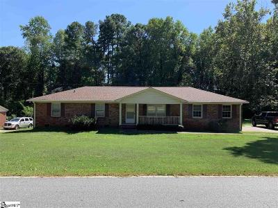 Anderson Single Family Home For Sale: 3006 Little Creek