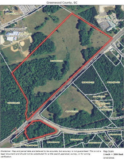 Greenwood County Residential Lots & Land For Sale: 50 Ac Bypass 72 NW