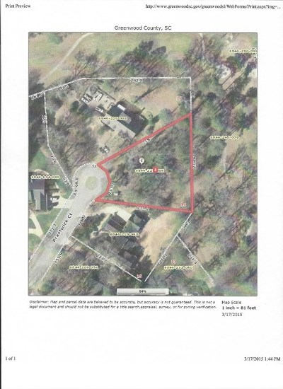 Greenwood County Residential Lots & Land For Sale: 106 Prestwick