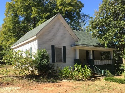 Abbeville SC Single Family Home For Sale: $39,000
