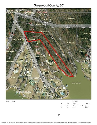 Greenwood County Residential Lots & Land For Sale: 319- Shrine Club Road