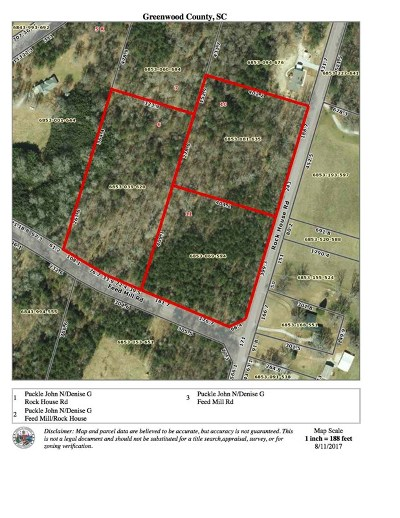 Greenwood County Residential Lots & Land For Sale: Rock House Rd.